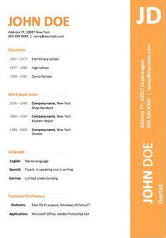 open office resume templates free - 28 images - financial